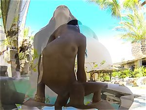 bikini beauty Chloe Amour nailed after a dip in the pool