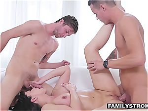 hot mommy gets torn up by kinky stepsons