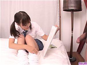 nude Momoka Rin amazing bedroom fucky-fucky with a educator