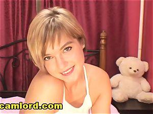 thin blondie teen teasing Her Self