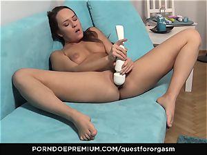 QUEST FOR ejaculation - gorgeous Blue Angel solo masturbation