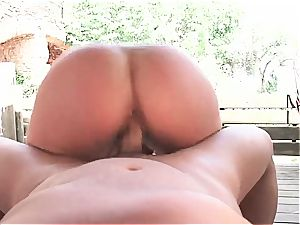 super-hot Latina insane for a good weenie inside by the pool