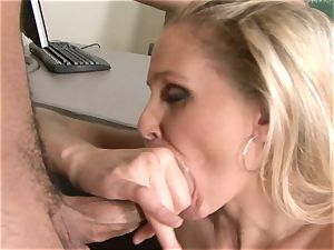 Julia Ann is a hard-core milf who wants to put her labia on a rigid cock