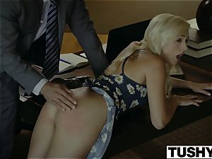 TUSHY.com insatiable blond anal romped by her Therapist