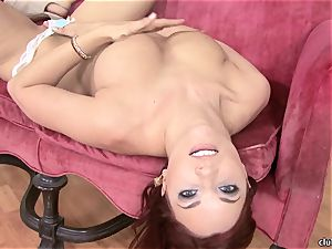 Jayden Cole whips out her yummy round globes