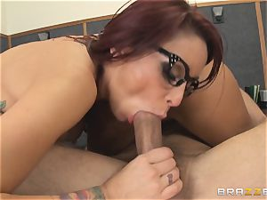 Mick Blue daydreaming in class about his teacher Madison Ivy