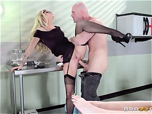 steamy doc Jessa Rhodes checks out this immense manhood