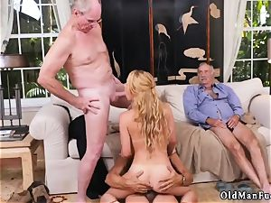 ash-blonde czech girl Frannkie And The group Tag squad A Door To Door Saleswoman