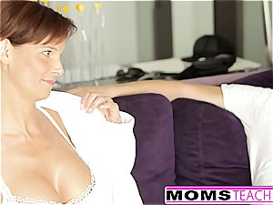 ginger-haired mom And nubile daughter-in-law Get kinky With pipe