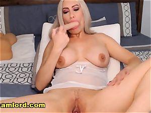 bodacious platinum-blonde mother heads kinky On web cam