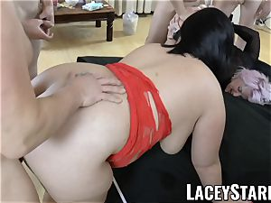 LACEYSTARR - Lacey Starr and her buddies gangbanged