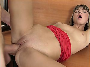 Doris Ivy taut poon stretched by fat fuck-stick