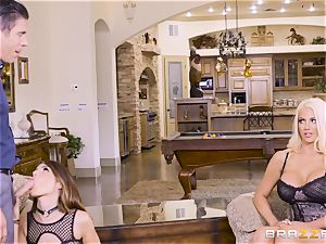 jizzswapping lovelies Adriana Chechik and Nicolette Shea humped deep